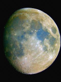 The Waxing Moon the Blue Areas are Indicative of Titanium-Rich Minerals