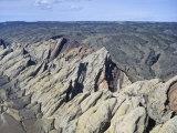 Aerial View of the San Rafael Swell  Navaho Sandstone  Emery County  Utah  USA