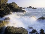 Surf Crashing Against Rocks  Patricks Point State Park  California  USA