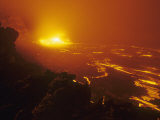 Lava Flow from the Kilauea Volcano Heats Up the Pacific Ocean  Hawaii  USA