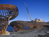 Rusty Shipwrecks in the Straits of Magellan  Chile