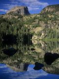 Hallett Peak Reflected on Bear Lake  Rocky Mountains National Park  Colorado  USA