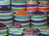 Rows of Colorful Spices for Sale  Luxor  Egypt