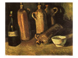 Still Life with Four Stone Bottles  1884