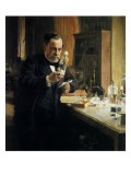 Louis Pasteur in Lab  1884