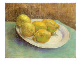 Still Life with Lemons on a Plate  1887