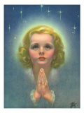 Blonde Girl Praying