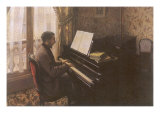 Man Playing Piano  1876