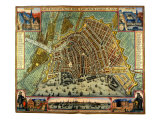 Map of Amsterdam 1633