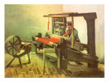 Weaver Facing Left  with Spinning Wheel  1884