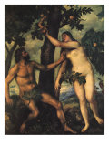Adam and Eve  1625