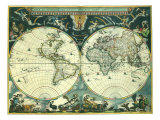 Double Hemisphere Map 1662
