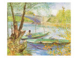 Fishing Near a Bridge  1887