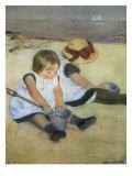 Children on the Beach  1884
