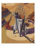 Sci Fi - Building Rocket Ship  1948