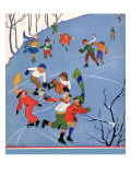 Children Ice Skating  1935