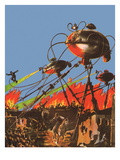 Sci Fi - War of the Worlds 1927 art print by Frank R. Paul