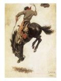 Man on Bucking Bronco  1902