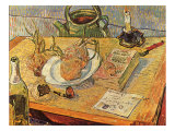 Still Life with Onions and Drawing Table  1889