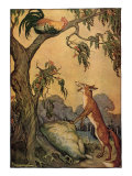 Fox and Rooster in Tree  1919