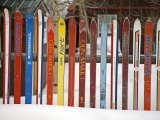 Fence Made from Skis  City of Leadville Rocky Mountains  Colorado  USA