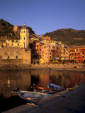 Vernazza Harbour  Vernazza  Cinque Terre  UNESCO World Heritage Site  Liguria  Italy  Europe