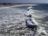 Shoreline with Waves Coming In  Pacific Beach  San Diego  California  USA