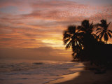 Sunset over Worthing Beach  Christ Church  Barbados  West Indies  Caribbean  Central America
