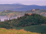 Landscape of the Crete Senesi Area  Southeast of Siena  Near Asciano  Tuscany  Italy  Europe