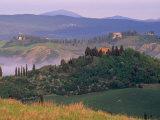 Landscape of the Crete Senesi Area  Southeast of Siena  Near Asciano  Tuscany  Italy  Europe