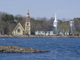 Three Churches  Mahone Bay  Nova Scotia  Canada  North America