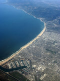 Aerial View of Los Angeles with Marina Del Rey Below  California  USA