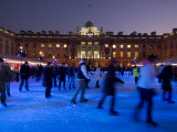 Winter Ice Skating Rink  Somerset House  London  England  United Kingdom  Europe