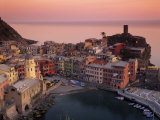 Vernazza Harbour at Dusk  Vernazza  Cinque Terre  UNESCO World Heritage Site  Liguria  Italy
