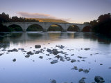 Seven-Arched Dunkeld Bridge over the River Tay at Dusk  Dunkeld  Perth and Kinross  Scotland