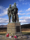 Commando Memorial  a World War II Memorial  Fort William Area  Highland Region  Scotland  UK