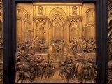 East Door of the Baptistery Near the Duomo  Florence  Tuscany  Italy