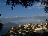 Vico Equense  with Mount Vesuvius Behind  Near Naples  Campania  Italy  Mediterranean