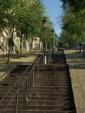 Looking Up the Famous Steps of Montmartre  Paris  France  Europe