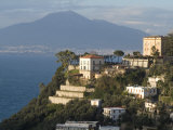 Mount Vesuvius View and Vico Equense  Near Naples  Campania  Italy  Mediterranean  Europe