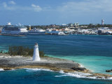 Paradise Island Lighthouse  Nassau Harbour  New Providence Island  Bahamas  West Indies
