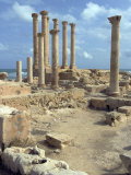 Temple of Isis  Roman Site of Sabratha  UNESCO World Heritage Site  Libya  North Africa  Africa