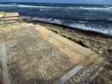 Mosaic at the Seaward Bath  Roman Site of Sabratha  UNESCO World Heritage Site  Libya