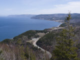 Cabot Trail  Cape Breton Highlands National Park  Cape Breton  Nova Scotia  Canada  North America