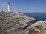 Lighthouse  Peggy's Cove  Nova Scotia  Canada  North America