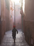 Back Street of Marrakech  Morocco  North Africa  Africa