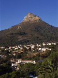Lion&#39;s Head Mountain and Camps Bay  a Suburb of Cape Town  South Africa  Africa