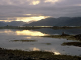 Isleornsay and Lighthouse  Knoydart Mountains Behind  Isle of Skye  Inner Hebrides  Scotland  UK