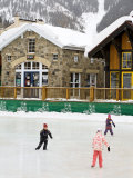 Ice Rink at Copper Mountain Ski Resort  Rocky Mountains  Colorado  USA