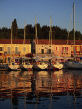 Reflections of Boats in the Evening at Fiskardo  Kefalonia  Ionian Islands  Greek Islands  Greece